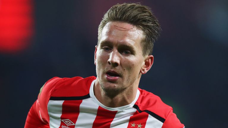 Luuk de Jong scored PSV's third goal on Saturday