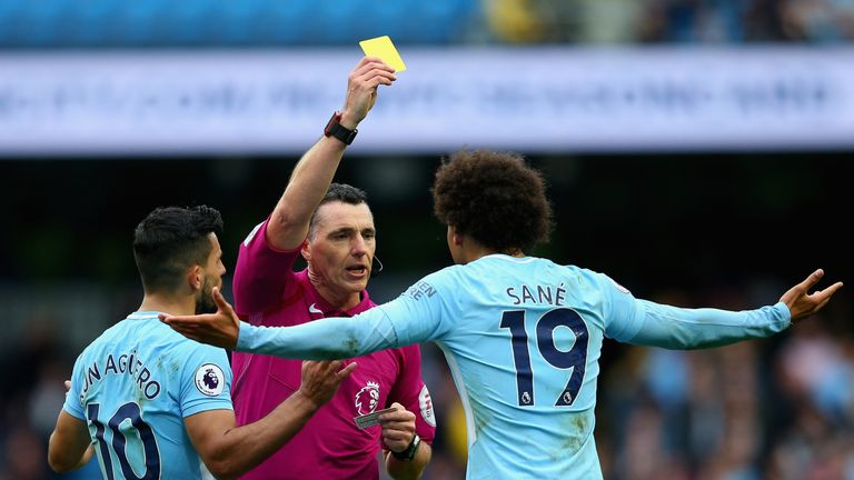 Leroy Sane will miss a match the next time he picks up a yellow card
