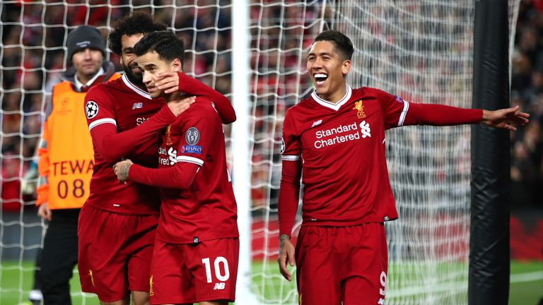 Philippe Coutinho scored a hat-trick for Liverpool