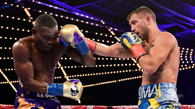 Lomachenko retains title as Rigondeaux quits after six