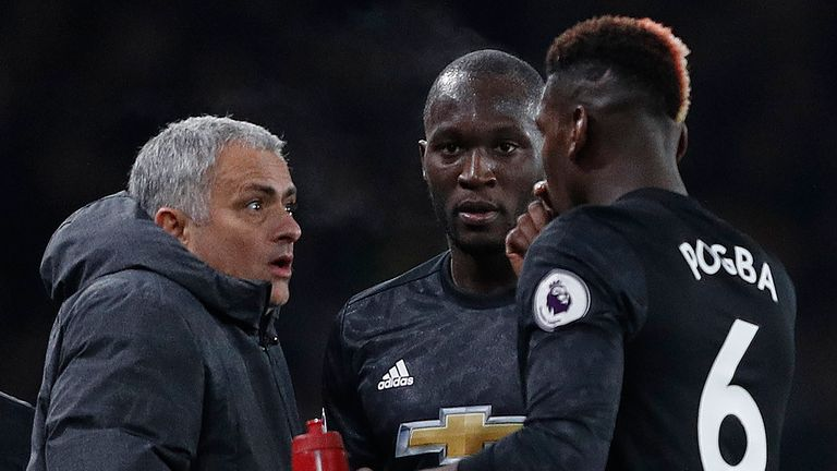 Romelu Lukaku (centre) and Paul Pogba were both signed by Jose Mourinho