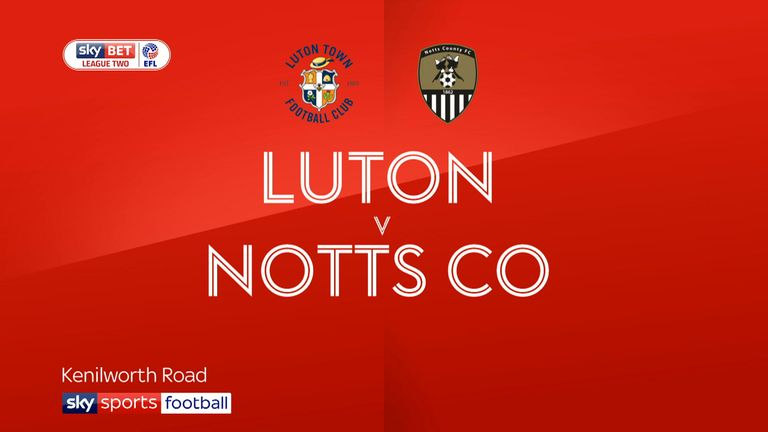 Nothing to split Luton or Notts County after top 2 clash