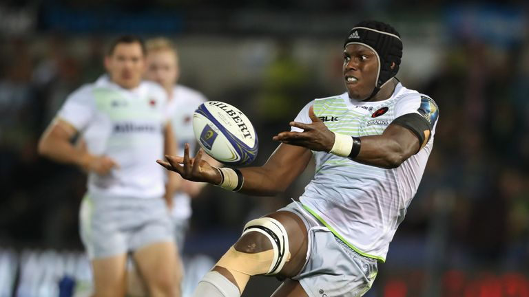 Maro Itoje sustained a fractured jaw in Saracens' defeat at Harlequins on Sunday