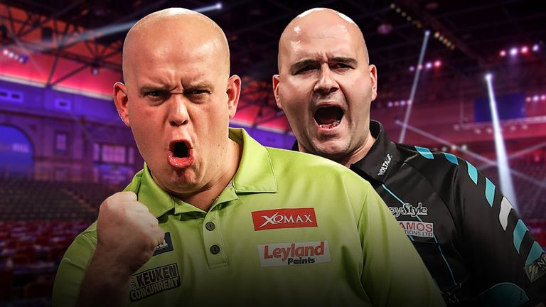 Michael van Gerwen and Rob Cross will clash for a place in the Premier League final