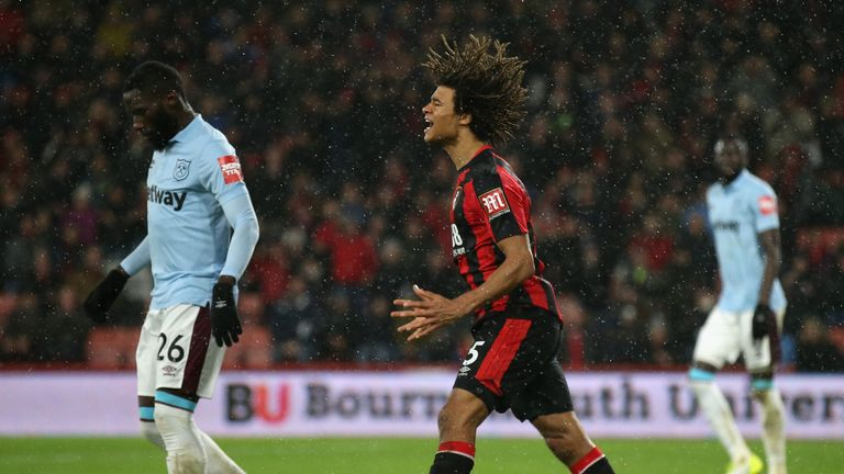Nathan Ake scored Bournemouth's second goal of the afternoon
