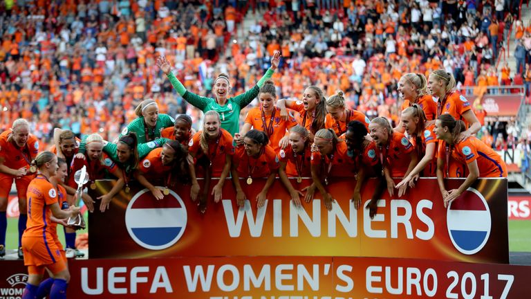 European champions the Netherlands are second in the rankings