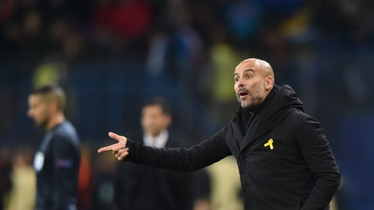 Pep Guardiola was delighted with the performance of some of his young players on Wednesday