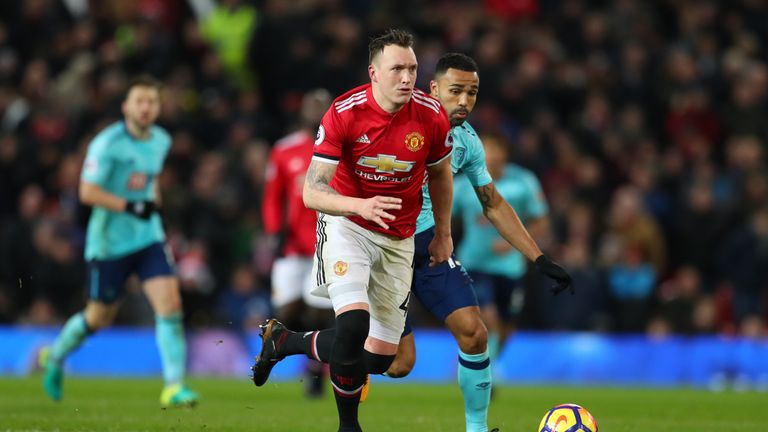 Manchester United defender Phil Jones picked up 12 points