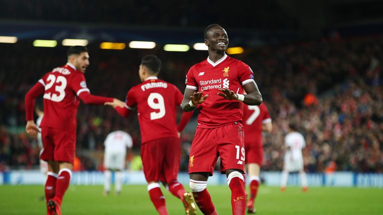 Sadio Mane was on target for Liverpool as they booked their place in the last 16