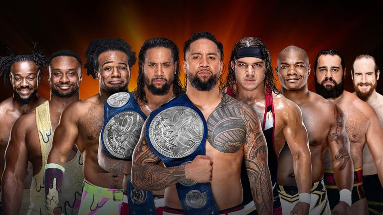 The SmackDown tag titles will be on the line in a fatal four-way match