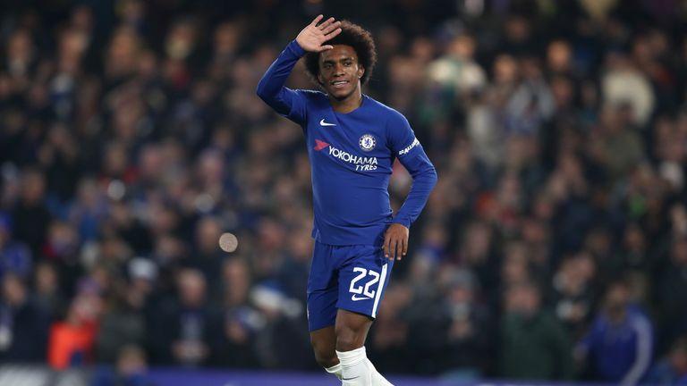 Willian scored the opener for Chelsea