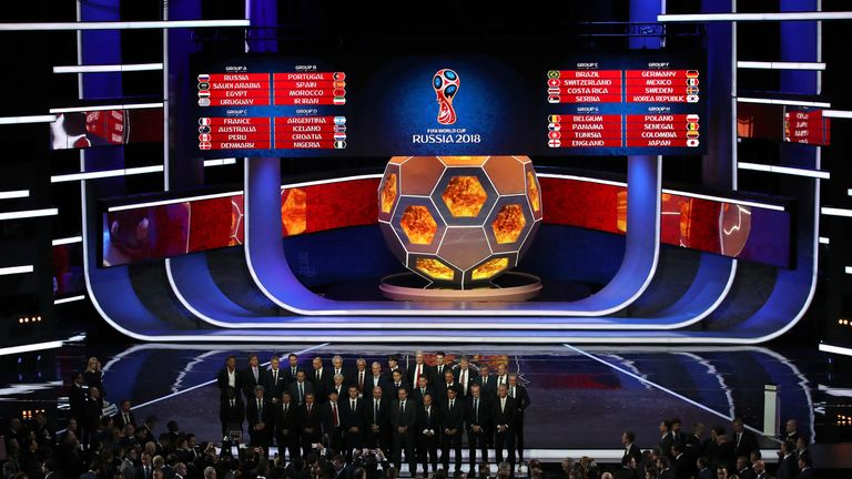 England were drawn in Group G for Russia 2018 at last week's World Cup draw