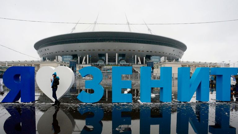 The Zenit Arena is one of the venues for the 2018 Russia World Cup