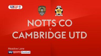 Notts County 3-3 Cambridge Utd