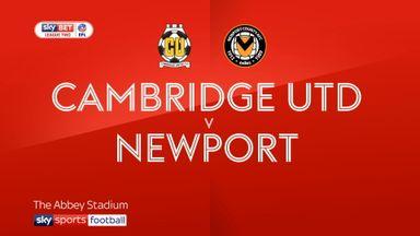 Cambridge Utd 1-2 Newport