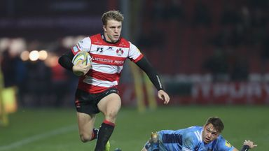 Ollie Thorley scored twice for Gloucester as they came from behind to beat Zebre in the Challenge Cup