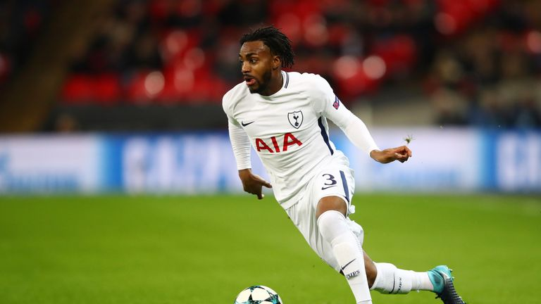 LONDON, ENGLAND - DECEMBER 06: Danny Rose of Tottenham Hotspur runs with the ball during the UEFA Champions League group H match between Tottenham Hotspur