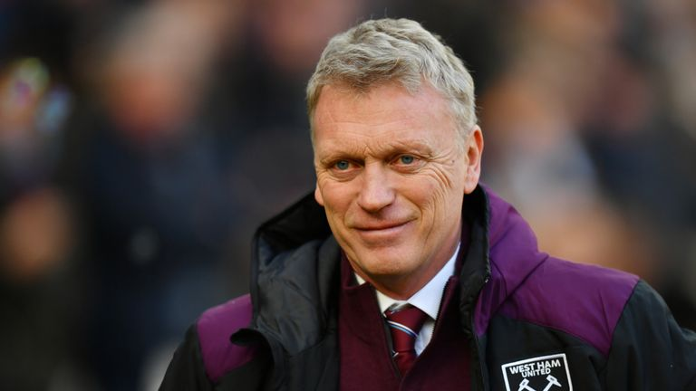 David Moyes prior to the Premier League match between West Ham United and Chelsea