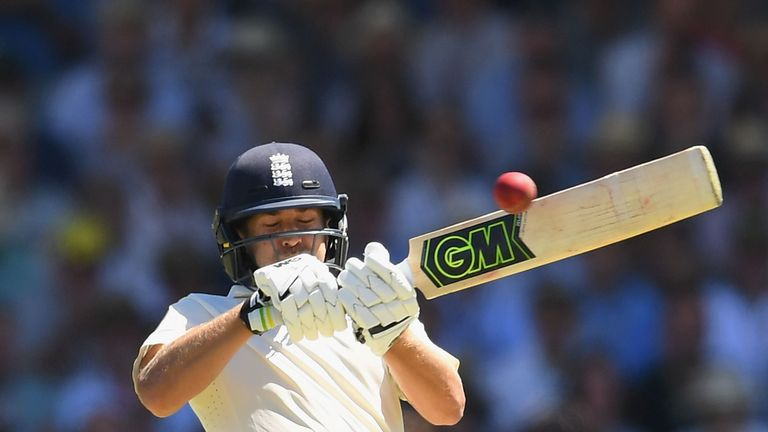 PERTH, AUSTRALIA - DECEMBER 14:  Dawid Malan of England bats during day one of the Third Test match of the 2017/18 Ashes Series between Australia and Engla