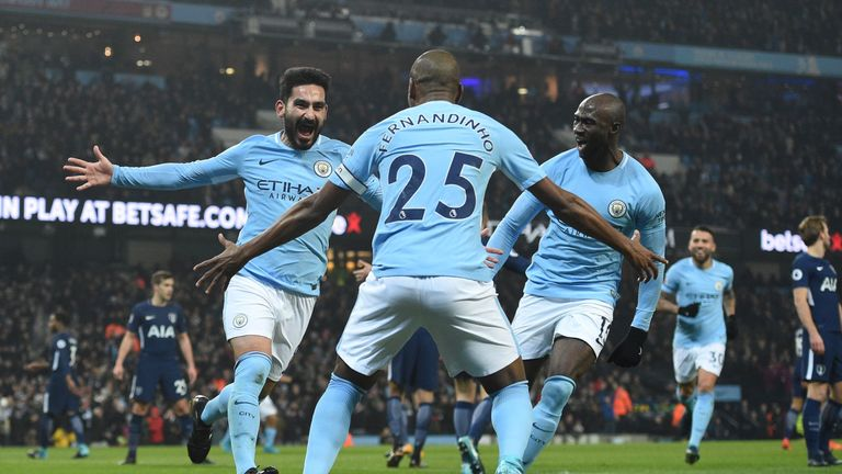 Ilkay Gundogan makes it 1-0 to Manchester City