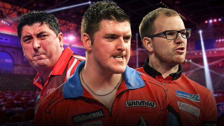 World Darts Championship - Mensur Suljovic, Daryl Gurney, Mark Webster