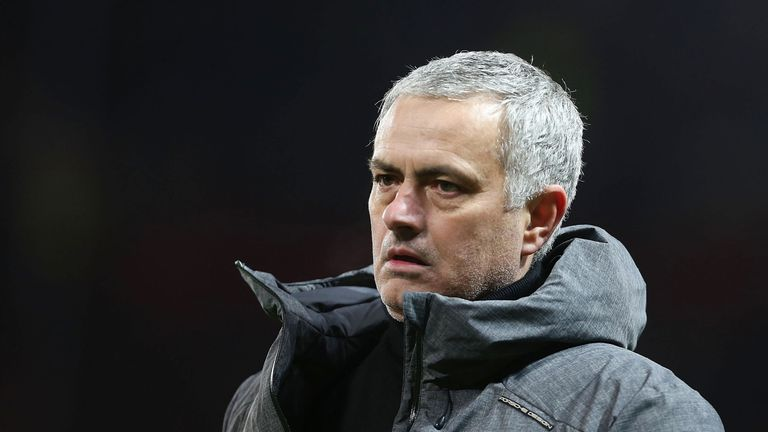 Jose Mourinho after the final whistle at Old Trafford