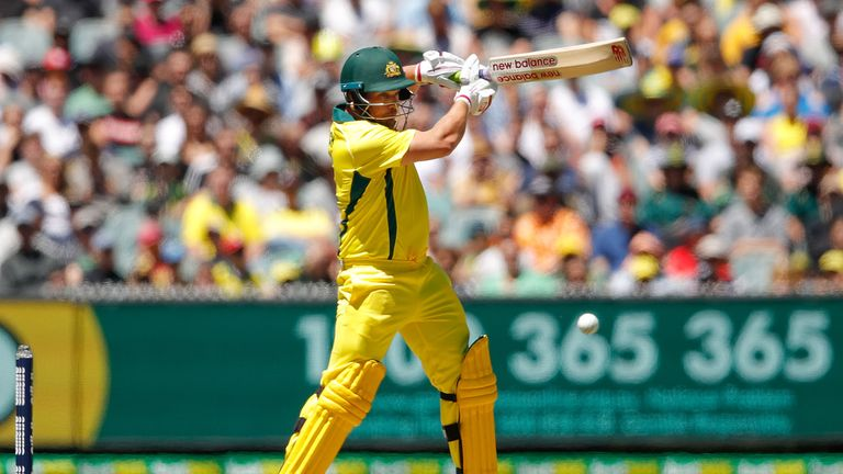 Aaron Finch survived Wood's opening burst and went on to make a superb hundred