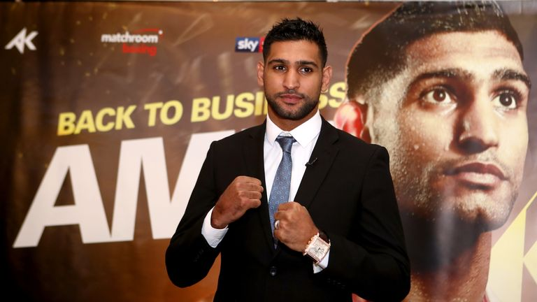 Amir Khan wants to battle the world's best after he makes his comeback