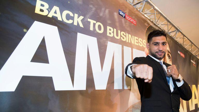 Amir Khan is back on Sky Sports with Matchroom