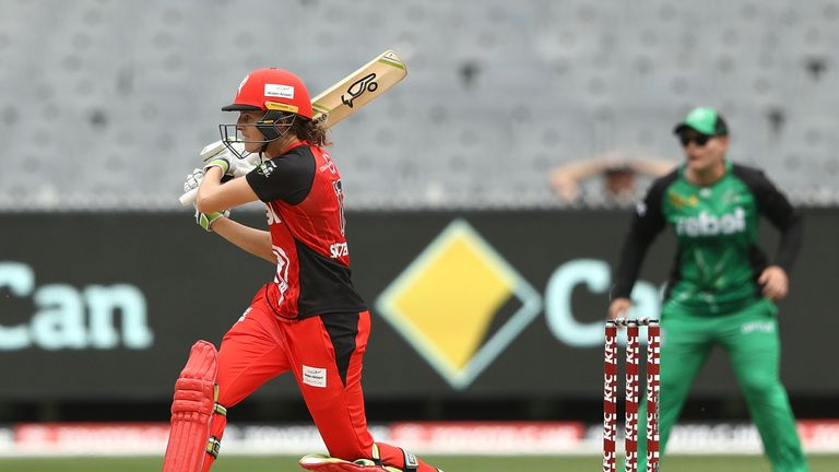 Satterthwaite in action for Melbourne Renegades during the Women's Big Bash League