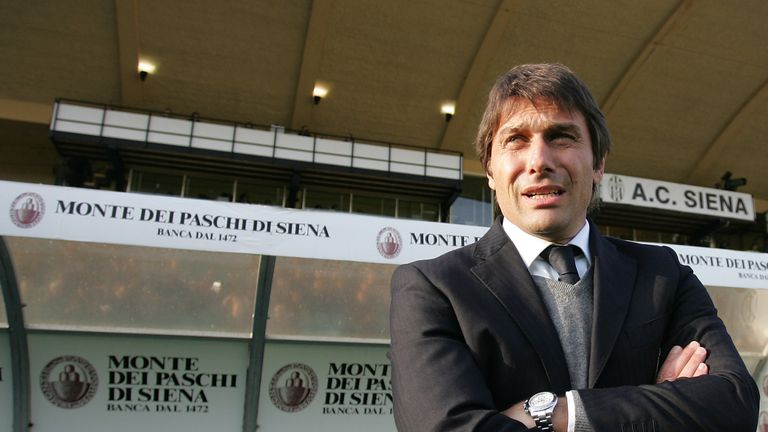 Conte led Siena to promotion to Serie A during the 2010-11 season