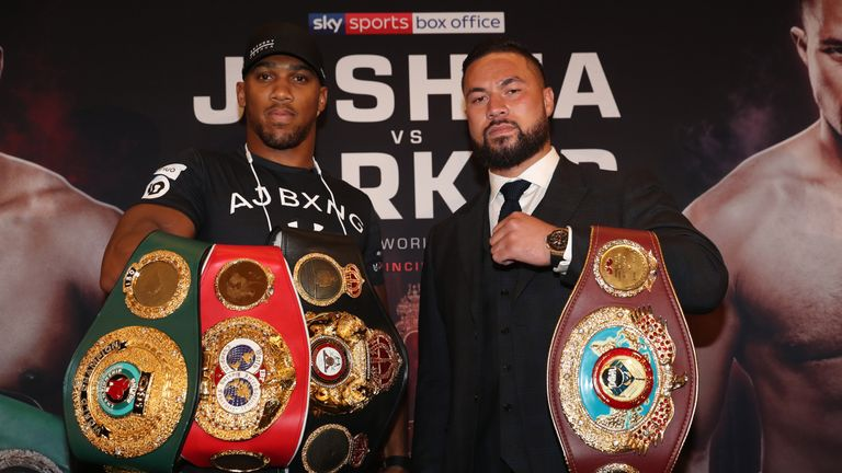 Anthony Joshua defends his WBA 'super' and IBF belts against WBO champion Joseph Parker on March 31, live on Sky Sports Box Office