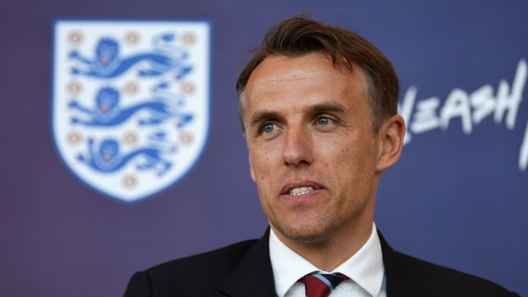 Neville's England side face France, Germany and the United States in the SheBelieves Cup