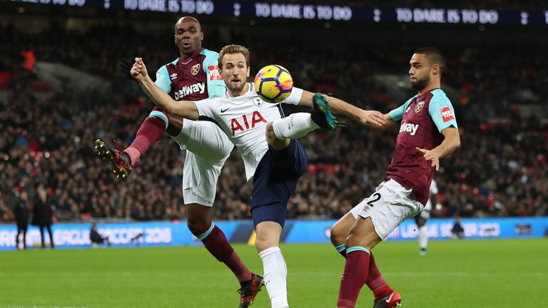 Harry Kane was unable to extend his record scoring run into 2018
