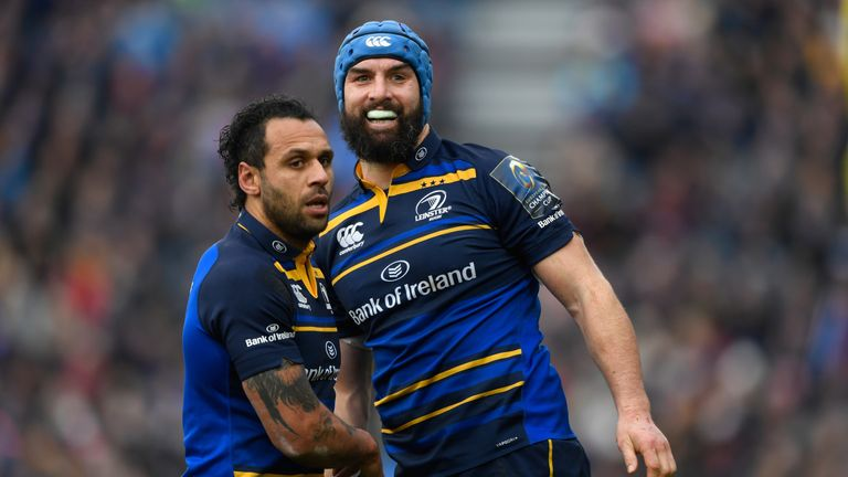 Isa Nacewa and Scott Fardy (r) both scored a pair of tries each for Leinster