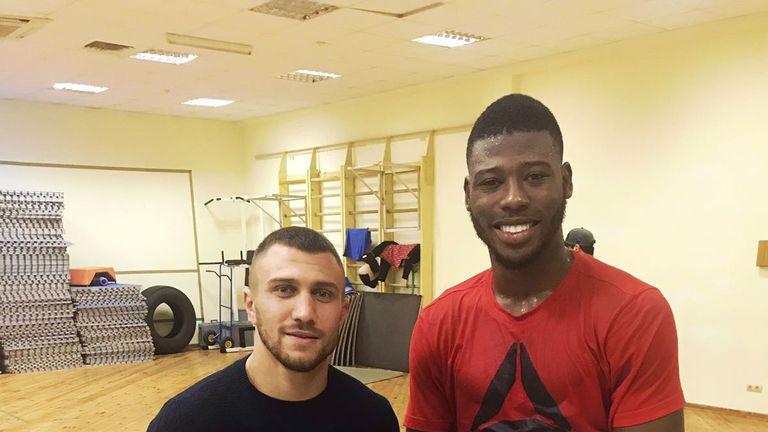 Isaac Chamberlain met Vasyl Lomachenko earlier this week