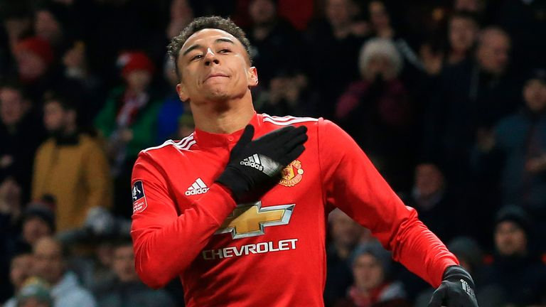 Manchester United's Jesse Lingard