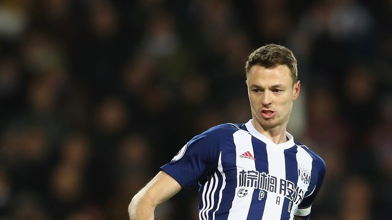 Jonny Evans is set to leave West Brom