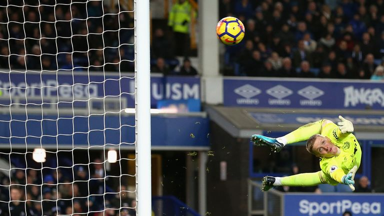 Jordan Pickford was named Everton's star performer
