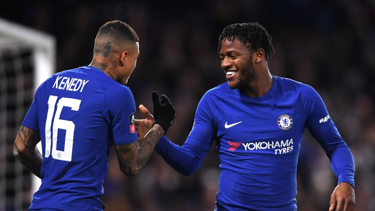 Michy Batshuayi scored for Chelsea in the FA Cup but could be on his way out