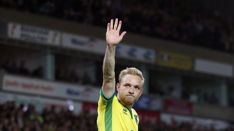 Midfielder Alex Pritchard is in line for his Huddersfield debut after joining from Norwich
