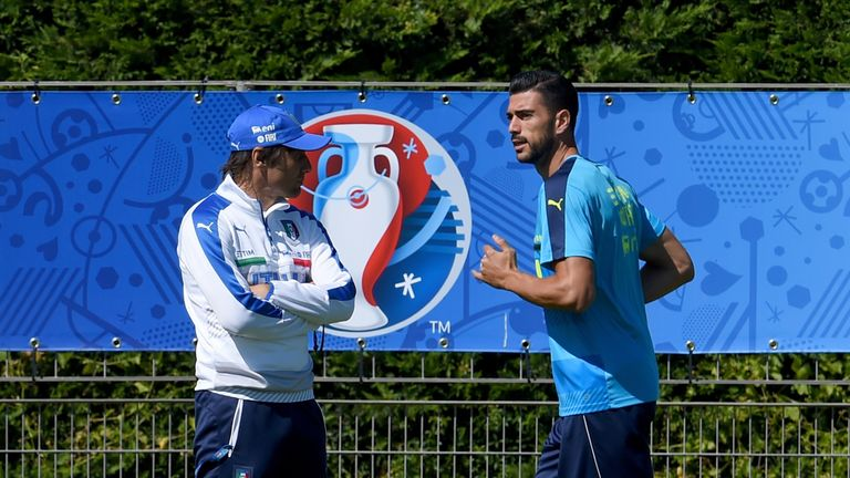 Former Southampton striker Graziano Pelle was a favourite of Conte's during his time in charge of Italy