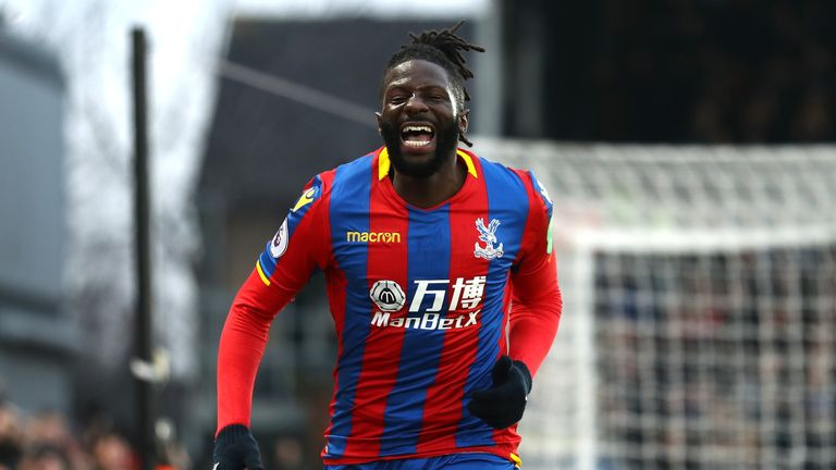 Bakary Sako celebrates his goal against Burnley