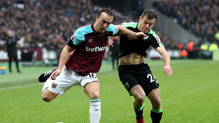 Mark Noble made four tackles, one clearance on three interceptions on Saturday