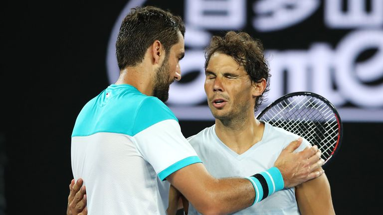 Rafael Nadal has not played since his Australian Open loss to Marin Cilic