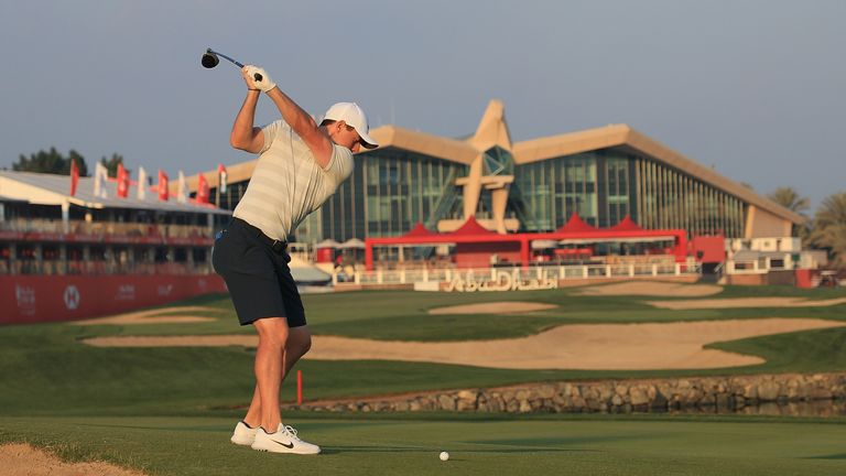 McIlroy returns to competitive golf in Abu Dhabi this week