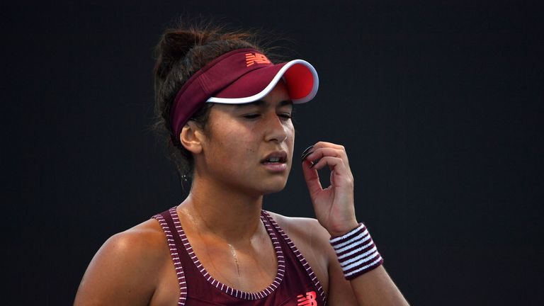 Heather Watson suffered a first round defeat as her singles struggles continue