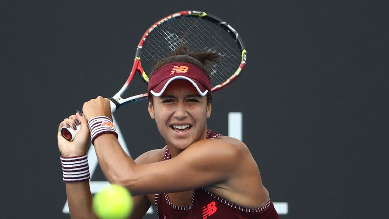 Heather Watson's run at the Hobart International ended with defeat in the semi-finals