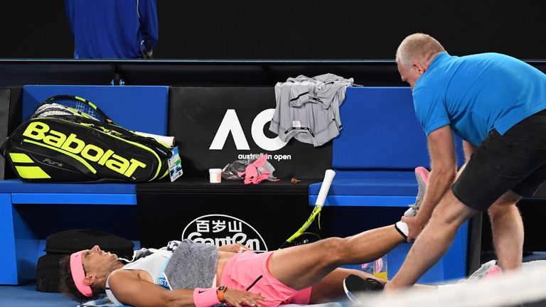 Nadal first suffered the injury in the fifth set of his Australian Open quarter-final defeat to Marin Cilic