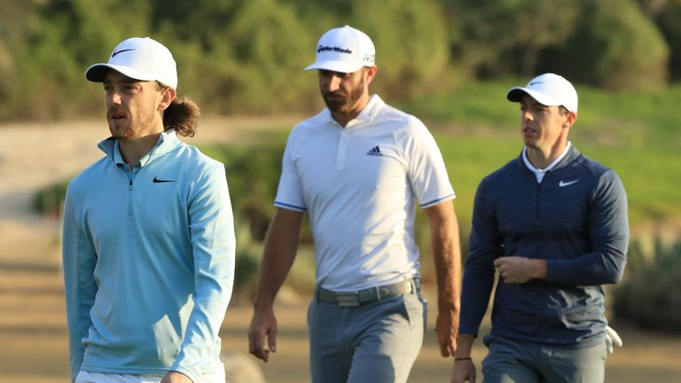 Tommy Fleetwood set the early pace on six under, while Dustin Johnson struggled to a 72